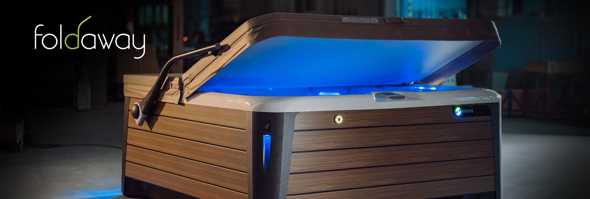 Sistema automatico spostamento copertura vasca idromassaggio
